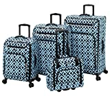 Leisure Escape 4 Piece Set, Blue Lattice
