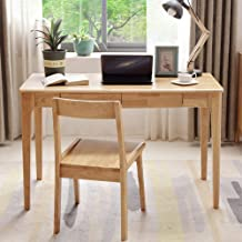 Solid Wood Desk and Chair, Modern Simplicity Home Desktop Computer Desk Middle School Student Study Desk Office Table
