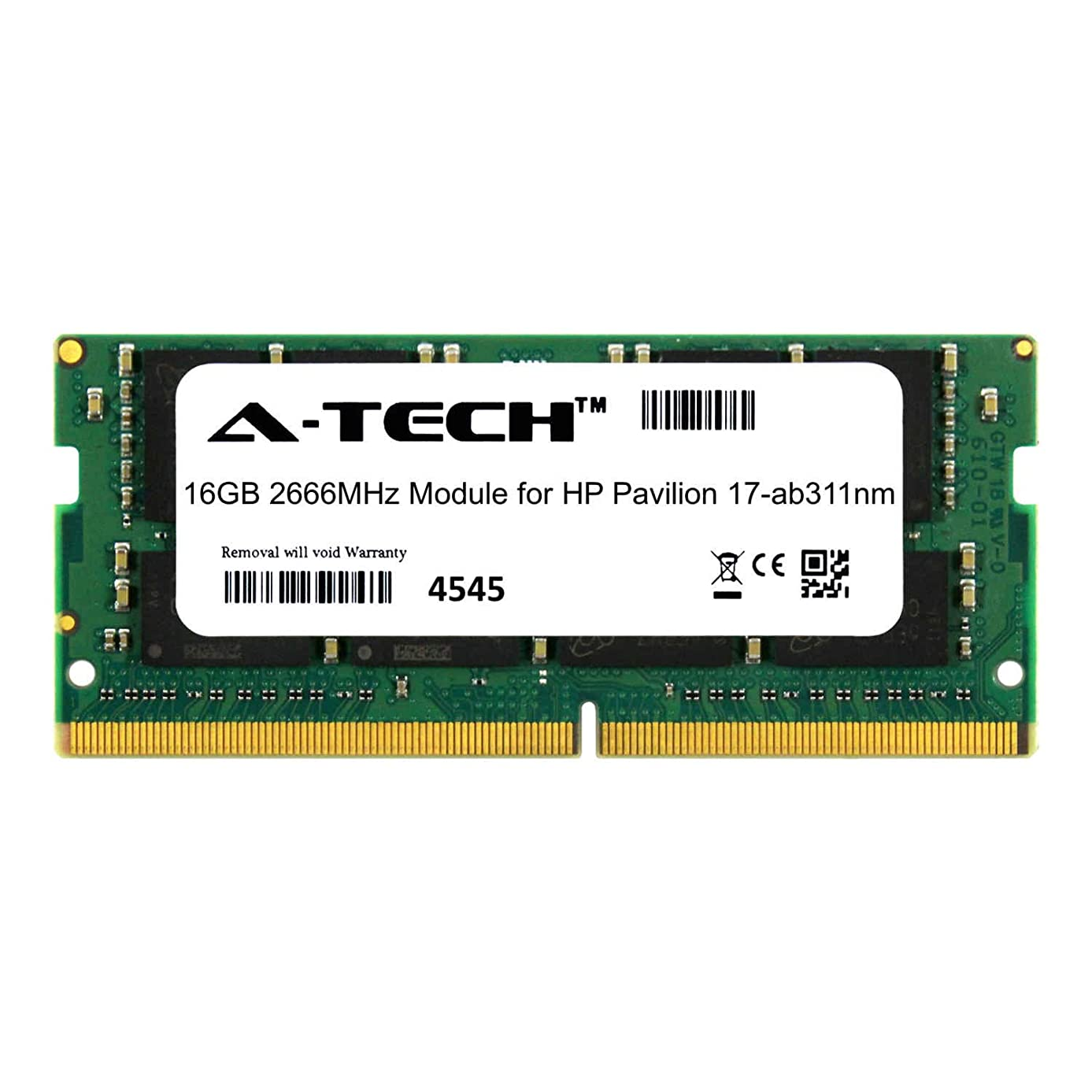 A-Tech 16GB Module for HP Pavilion 17-ab311nm Laptop & Notebook Compatible DDR4 2666Mhz Memory Ram (ATMS310535A25832X1)