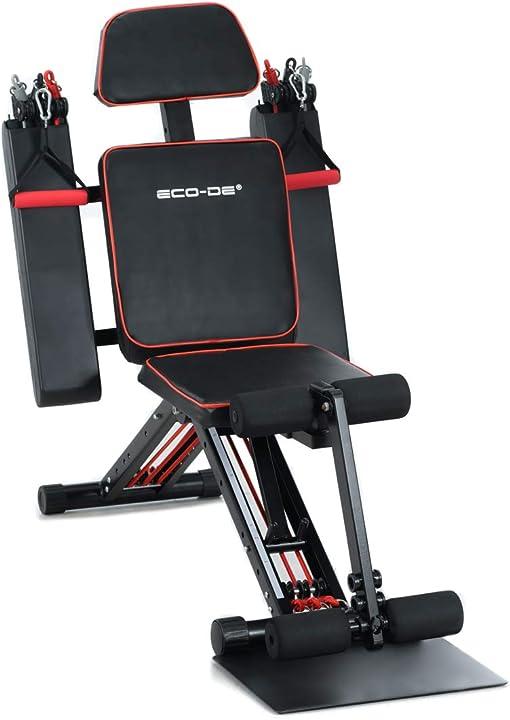 Panca multiesercizio addominali braccia gambe tricipiti quatricipiti pettorali eco-de total gym eco-849