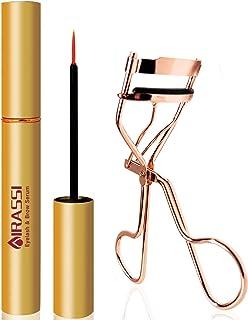 Eyelash & Brow Enhancing Serum | 3ml Natural Looking Eyelash Growth Enhancer & Eyebrow Growth Serum for Longer, Fuller & Thicker(With the Gfit - Rose Gold Eyelash Curler)
