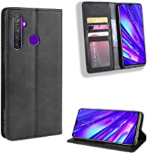Snow Color Leather Wallet Case for Oppo Realme 5/5S/5i/6i/C3 Premium PU Leather Folio Flip Cover with Kickstand and Credit...
