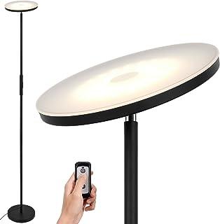 Anten Stjarna | Lámpara de pie 20W con mando a distancia | Negra | Regulable + 3 colores de luz | Lámpara Moderna como luz de ambiente para el salón/oficina.