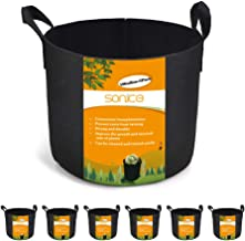 Sonice Set of 6 Pack 10 Gallons Grow Bags by, Aeration Fabric Pots With Handles
