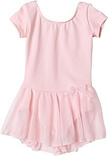Capezio Little Girls' Short Sleeve Nylon Dress