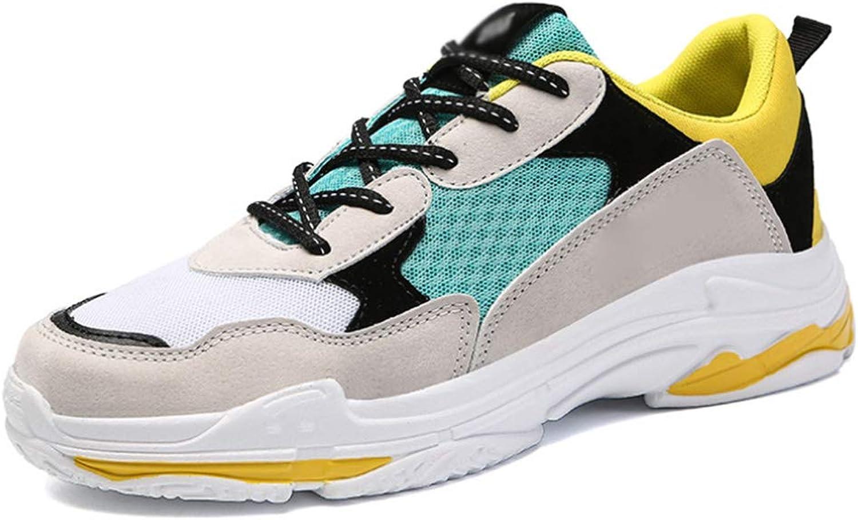 10d275805c25 Men's Breathable Mesh shoes Thick Soles Soles Soles Casual Sports ...