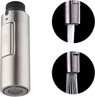 KES Kitchen Sink Faucet Sprayer Head Replacement SUS304 Stainless Steel 2-Functions Pull Out Spray Head Brushed Finish, PFS200-BS