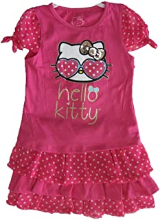 7c0ff027a642 Hello Kitty Little Girls Fuchsia Dotted Glittery Applique 2 Pc Skirt Set 5