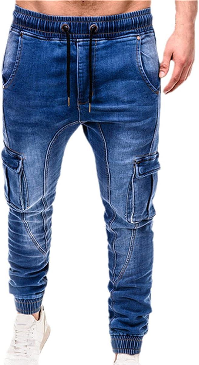 Fall/Winter Men's Stretch Jeans Business Casual Classic Fashion Denim Trousers Men's Black Blue Pants