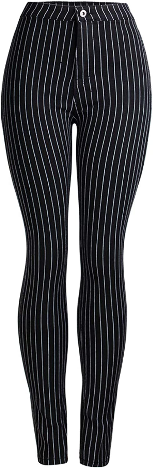 Women's Striped Pencil Trousers Fashion Simple Casual Office Work Simplicity
