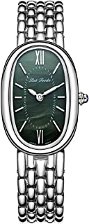 Betfeedo Women's Dress Watch Ultra-Thin Oval Dial Quartz Analog Watch with Stainless Steel Strap