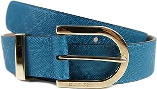 4d15095d4cbc0 Gucci Women s Diamante Turquoise Blue Leather Belt 354382
