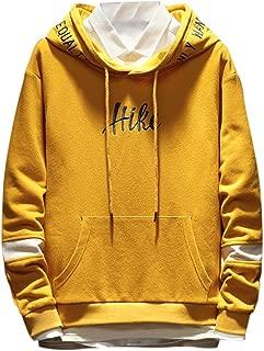 ANJUNIE Men's Baggy Cap Guard Sweatshirt Teens Simple Hoodies Letters Printed Jacket Parkas Coat Pullover