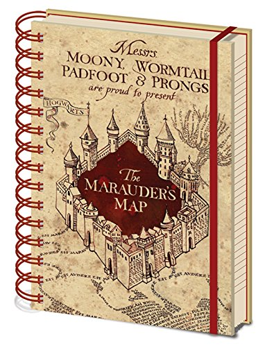 Harry Potter - Cuaderno A5 Espiral The Marauders Map