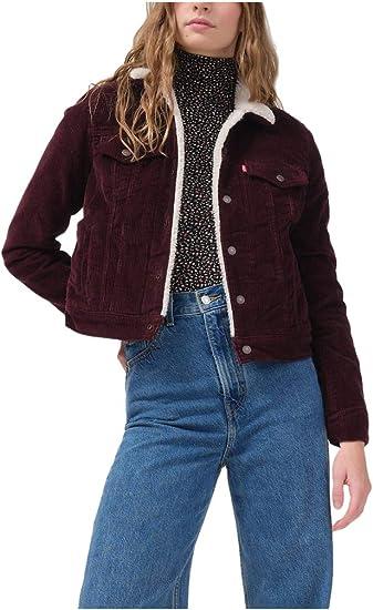 wine red aesthetic jacket Levis warm winter jeans sale