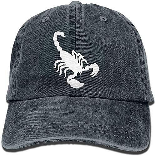 Kotdeqay Unisex Baseball Cap Denim Fabric Hat Scorpion Silhouette Adjustable Snapback Sunbonnet Gorgeous 7913