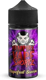 Vampire Vape SHORTZ Series E Liquid Vape Juice, múltiples sabores, 50 ml 0 mg 70VG / 30PG - Sin nicotina (Grapefruit Sunrise)