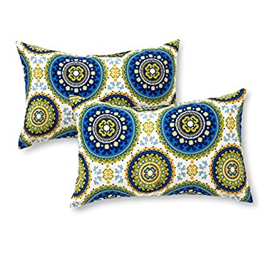 Greendale Home Fashions Rectangle Outdoor Accent Pillow (set of 2), Summer