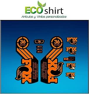 Ecoshirt N6-P72G-8GHC Autocollants Fork Fox 40 Am66 Autocollants Fourche Gabel Fourche Rouge