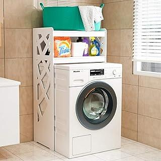 Support de Rangement de Toilette Blanche Plus de Lave-Linge étagère de Rangement Salle de Lavage Organisateur 3 étagères W...