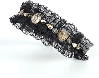 BERYUAN Fashion Baroque Women Hairband Pearl Black Gemstone Crystal Bejewelled Headband Rhinestone Hair Hoop Jewelry Velve...