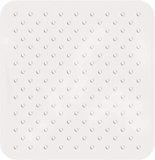 Tatkraft Fine   Gummi rutschfeste Quadratische Duschmatte mit Saugnäpfen   Anti Pilz Gummi Badematte   Duscheinlage Quadratisch mit 145 Saugnäpfe   Maße 55x55 cm
