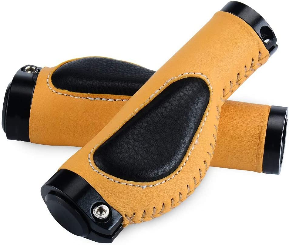 OULATUWB Non Slip Bike Grips Lock Max 88% OFF Leather on Outlet ☆ Free Shipping Locking Han Bicycle