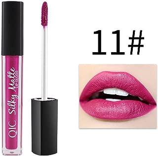12 Colors Women Matte Liquid Pencil Lipstick Lip Gloss Waterproof Long Lasting Makeup,No Caking (11#)