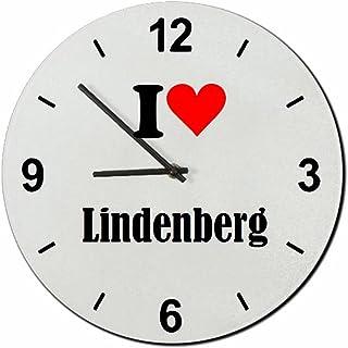 Druckerlebnis24 Glasuhr I Love Lindenberg eine tolle Geschen