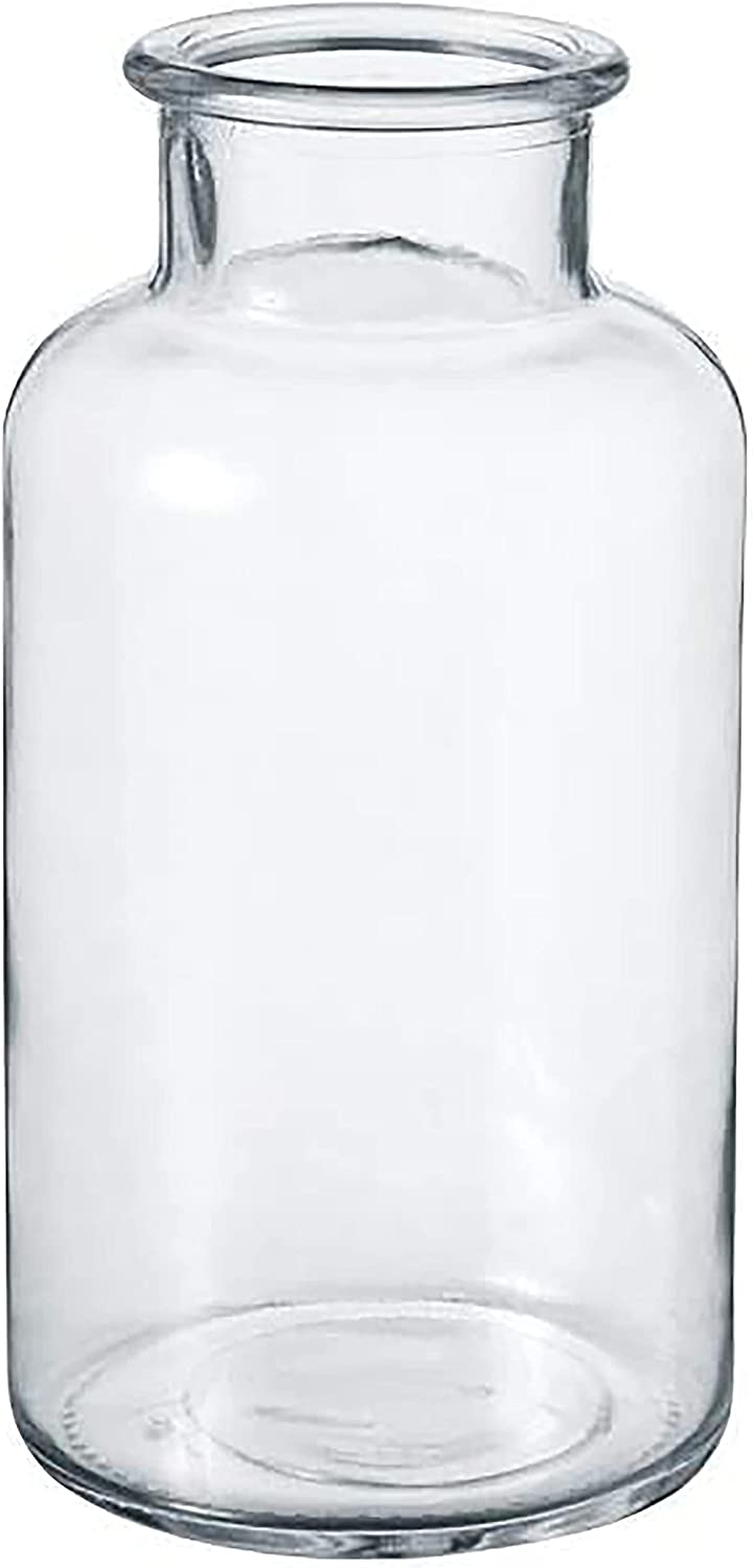 Vintage Style Clear Max 73% OFF Bottle Recycled Wed It is very popular Glass Bud Eco Vase