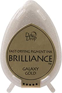 Tsukineko Brilliance Dew Drop Inkpad, Galaxy Gold
