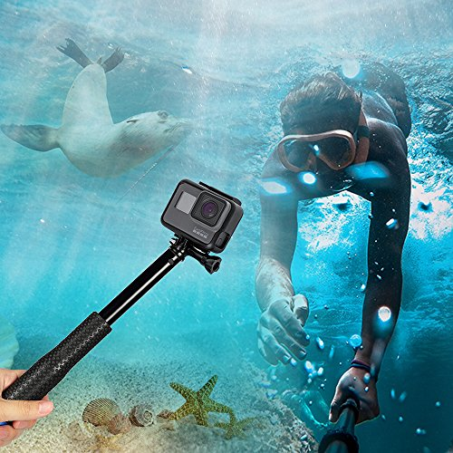 Innoo Tech Selfie Stick für Action Cam, Erweiterbar Self Portrait Wasserdicht Aluminium Selfie Stick Pole Handheld Monopod Pole für Action Cam, ideal für Surfen, Ski, Tauchen, Reise