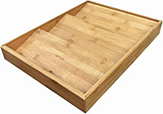 Simhoo Bamboo Spice rack In-Drawer Kitchen Cabinet Spice 18 Bottle Holder for Storage/Organizer 3-Tier