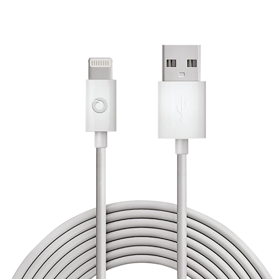 Noubco Lightning to USB Cable | Apple MFi Certified | Compatible with iPhone, iPad, iPod Touch, and Beats Pill+ | White, 3.3 feet (1 Meter)