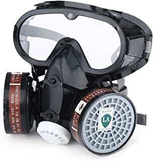 Single Canister Full Face Head Electric Military Reality Field Full Face Gas Mask Widely Used in Organic Gas,Paint Spary, Chemical,Woodworking,9600a+b