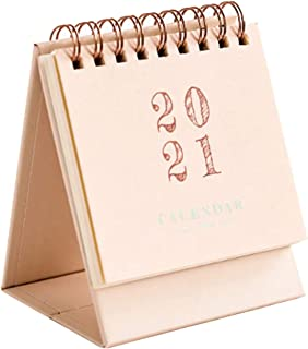 ミニ卓上カレンダーSep.2020 - Dec.2021,2020プランナーオーガナイザーは、目標を設定するように設計し、物事はホームオフィスのための目標ジャーナルを成し遂げます Kentan