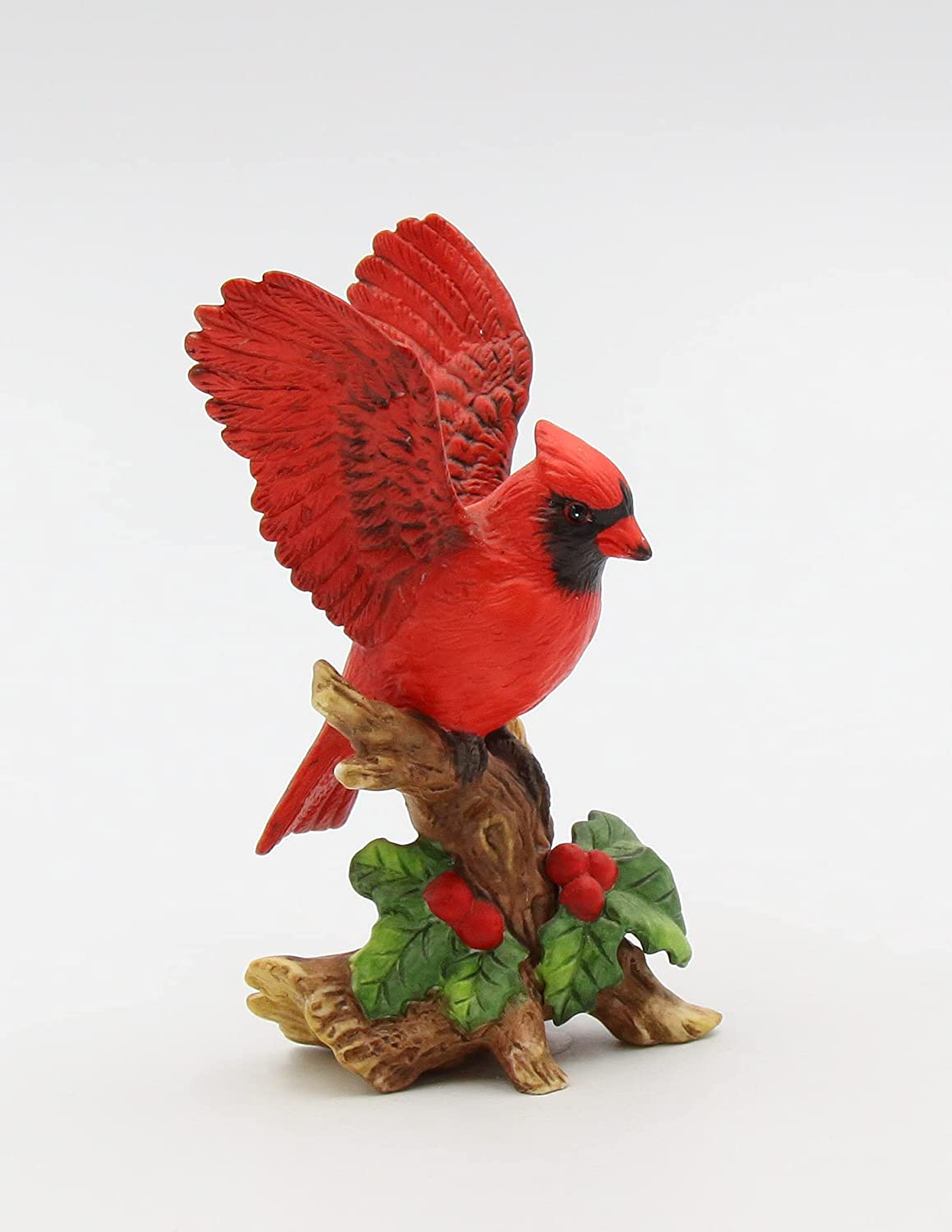 Ranking TOP2 Fine Porcelain Collectible Gorgeous Red Cardinal Figurine with 4 Berries