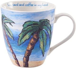 Pfatlzgraff Sentiment 18oz Mug (Sun, Sand and Coffe In My Hand)