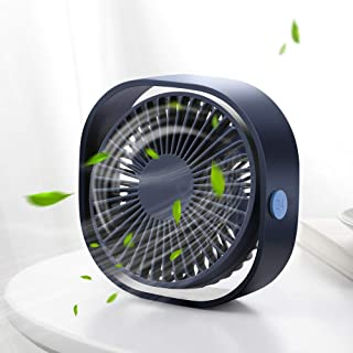 Santo USB Table Fan, Mini Desk fan Use with 3.94ft Cable, Cooling Fan for Home & Office Quiet and Powerful, Cools You Down...