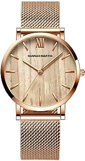 Women's Luxury Watch, Women's Dress Watches, Stainless Steel Mesh Ultra Thin Watches,Fashion Waterproof Ladies Wrist Watch Black White Blue Face