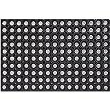 PROGOM Caillebotis Caoutchouc 60cm x 40cm x 1.6cm - Noir - Haute qualité
