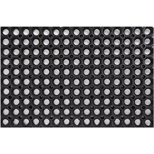 PROGOM - Caillebotis Caoutchouc 150cm x 100cm x 2.2cm - Noir - Haute qualité
