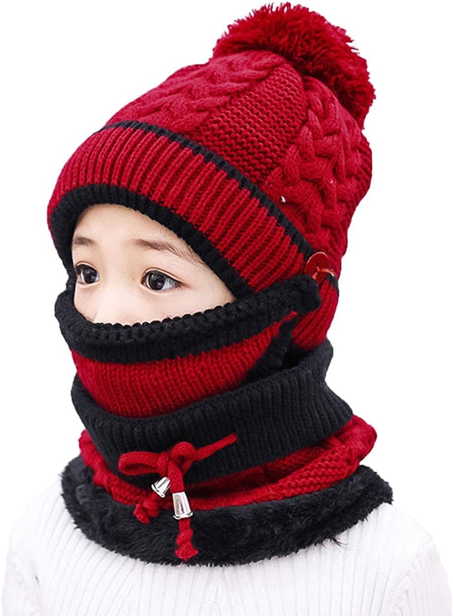 Ranking TOP5 ba knfe Winter Sale Hats for Kids Mask with Hat Children Knitted Sc