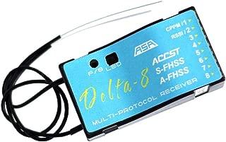 FrSky Delta 8 2.4Ghz 8CH Multi-Brand Receiver D8/V8 Futaba S-FHSS/FHSS Hitec AFHSS Compatible