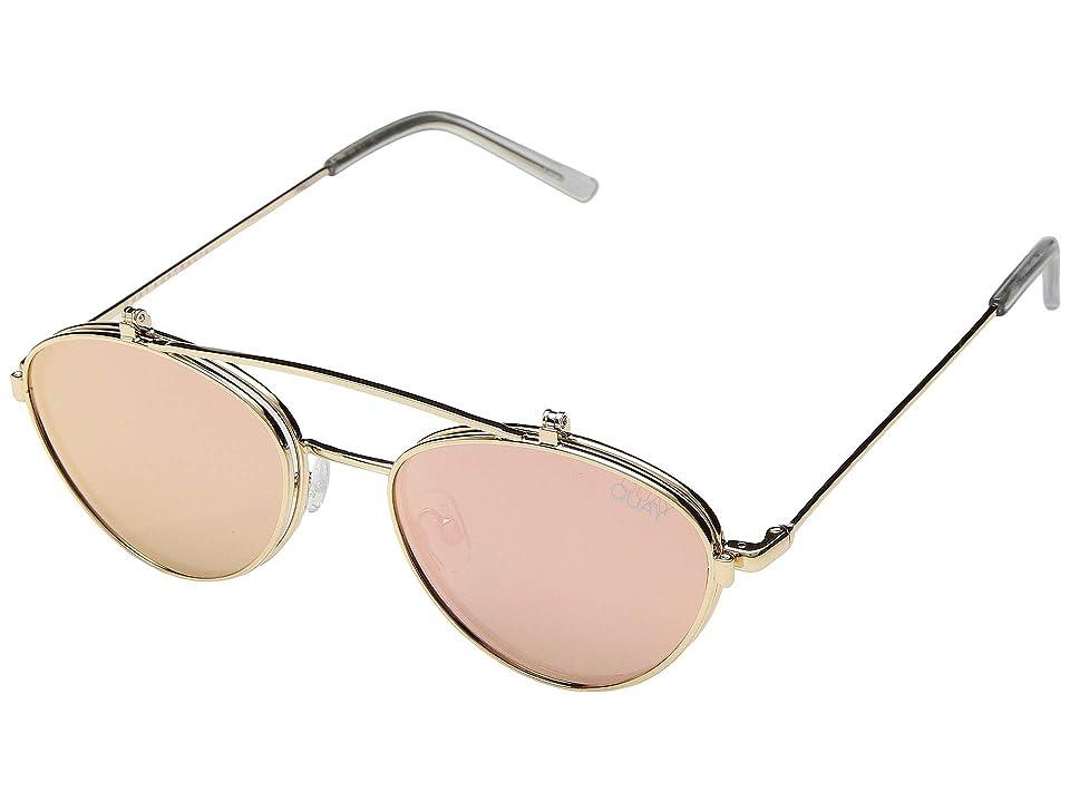 QUAY AUSTRALIA Elle (Gold/Rose) Fashion Sunglasses