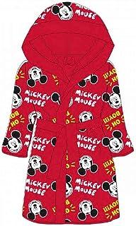 Albornoz infantil con capucha de Mickey Mouse.