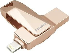USB Flash Drive for iPhone 128GB iOS Flash Drive USB/Lightning Photo Stick Puanv OTG Memory Stick External Storage Thumb Drive Compatible with iPhone/iPad/iOS/Mac/PC (Rose Gold-128GB)