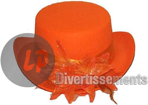 EA Lot de 12 Chapeaux Haut de Forme pour Femme Orange