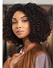 AISI HAIR Short Afro Kinkys Curly Hair Wig Afro Wig Short Brown Synthetic Afro Curly Hair Wigs for Women Side Part Wig