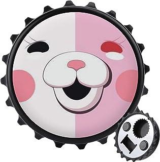 Vit rosa björn flasköppnare ett lock multifunktion öl flasköppnare, möbler kylskåp dekoration klistermärke